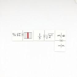 Dominó de fracciones VII
