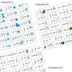 Dominós de fracciones V, VI...