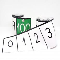 Cinta numérica hasta el 100...